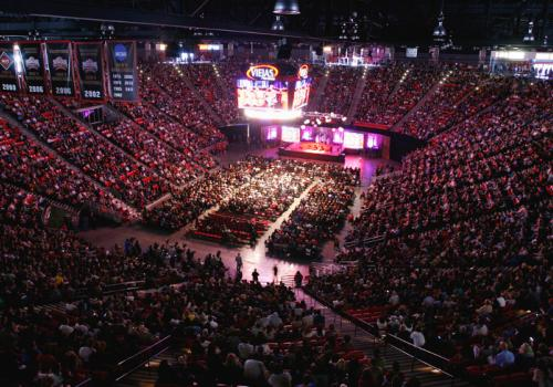 The Vieja Arena at San Diego State University was filled to the brim on April 19 with the scores of people who turned out to listen to the 14th Dalai Lama lecture about upholding compassion in a changing world.