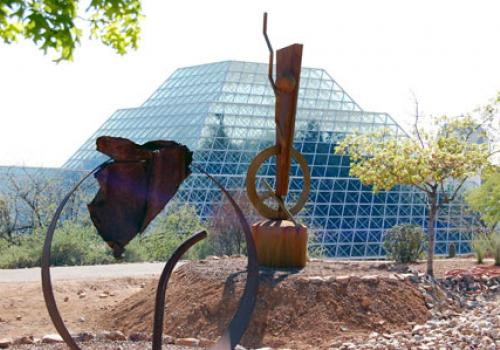 Artwork by Tucson sculptor Steven Derks is on display at Biosphere 2.