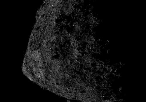 This image of asteroid Bennu was captured on June 13. Bennu's largest boulder can be seen protruding from the southern hemisphere. OSIRIS-REx broke the record for the closest distance a spacecraft has orbited a body in the solar system, and is now orbitin