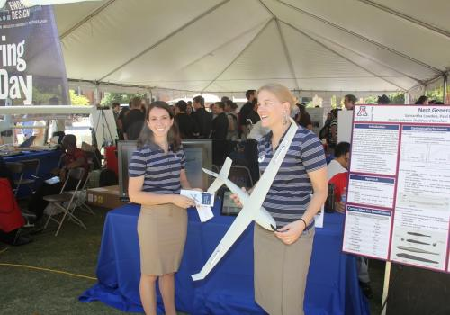 A record number of engineering seniors - more than 350 - presented their projects at the 2014 Engineering Design Day at the UA.
