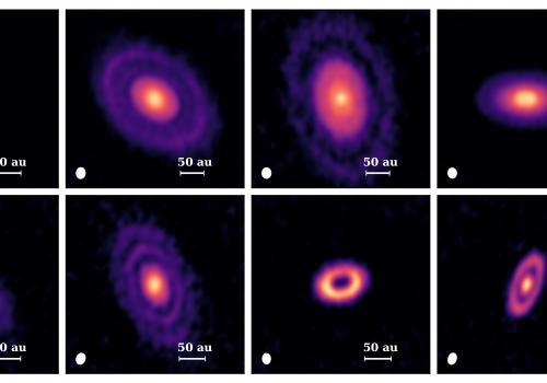 Until recently, protoplanetary disks were believed to be smooth, pancake-like objects. The results from this study show that some disks are more like doughnuts with holes, but even more often appear as a series of rings. The rings are likely carved by pla