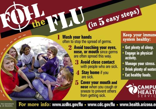 "This poster can be downloaded from the ""Flu News"" area of the Campus Health Service site, www.health.arizona.edu."