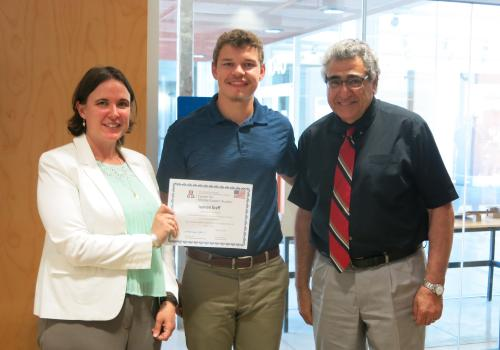 From left to right: Julie Ellison-Speight, assistant director of the UA Center for Middle Eastern Studies, HIVE student Jackson David Graff and professor Nader Chalfoun