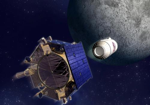 The Lunar CRater Observation and Sensing Satellite, or LCROSS, will plunge into a crater near in the south polar region of the moon at 4:30 a.m. Arizona time Oct. 9.