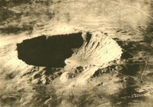 Meteor Crater, Arizona, USA   From the Smithsonian Scientific Series , taken by the U.S. Army Air Service.