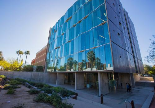 The Meinel Optical Sciences building houses the College of Optical Sciences, which recently received a $20 million gift from founding dean James Wyant and his family.