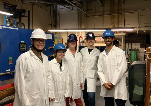 Mo Almarhoun  with a group of his chemical engineering classmates.