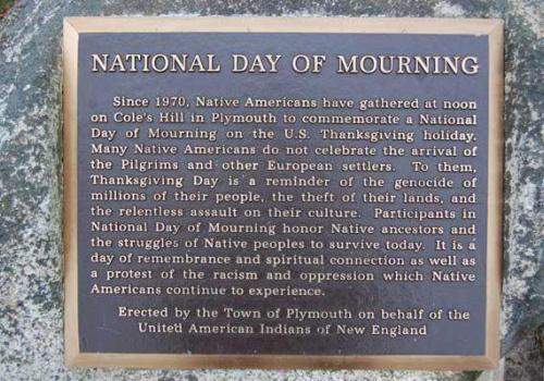 On Nov. 23, Native Americans will gather in Plymouth, Massachusetts, to commemorate a National Day of Mourning, rather than Thanksgiving. A similar gathering will take place in San Francisco, California, on Alcatraz Island.