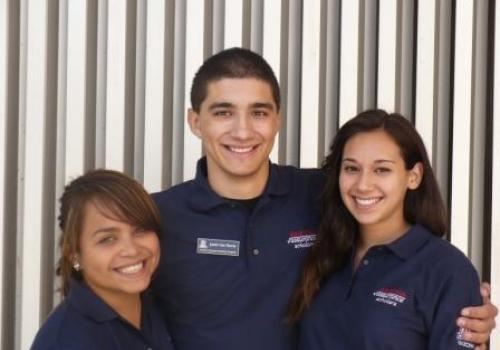 From left to right: Yoshira Ornelas, Justin Van Horne and Kelsey Castellano three of 17 Arizona Assurance scholars who will serve as peer mentors.