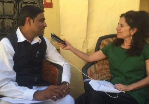 Relly interviewed journalist Razak Haider, who is with the news organization Rajasthan Patrika in Jodhpur, India, about his extensive use of the RTIA.