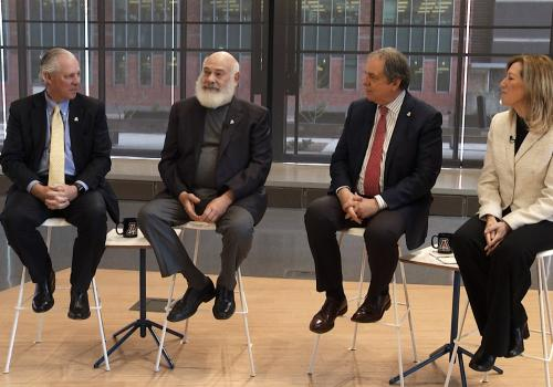 From left: Drs. Robert C. Robbins, Andrew Weil, Michael Dake and Victoria Maizes