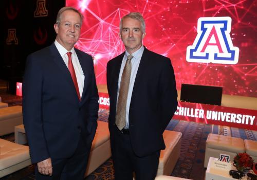 From left: Brent White and Edward Roekaert at the opening celebration for UA Lima at UPC.