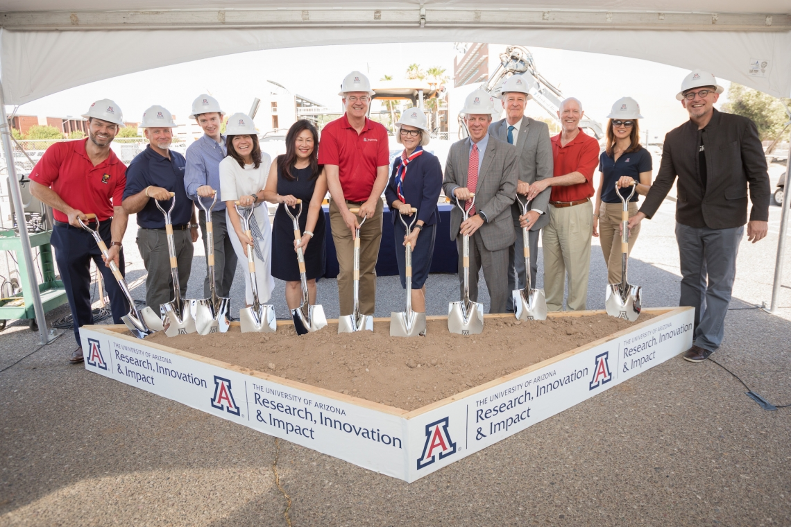 ground breaking group in hard hats