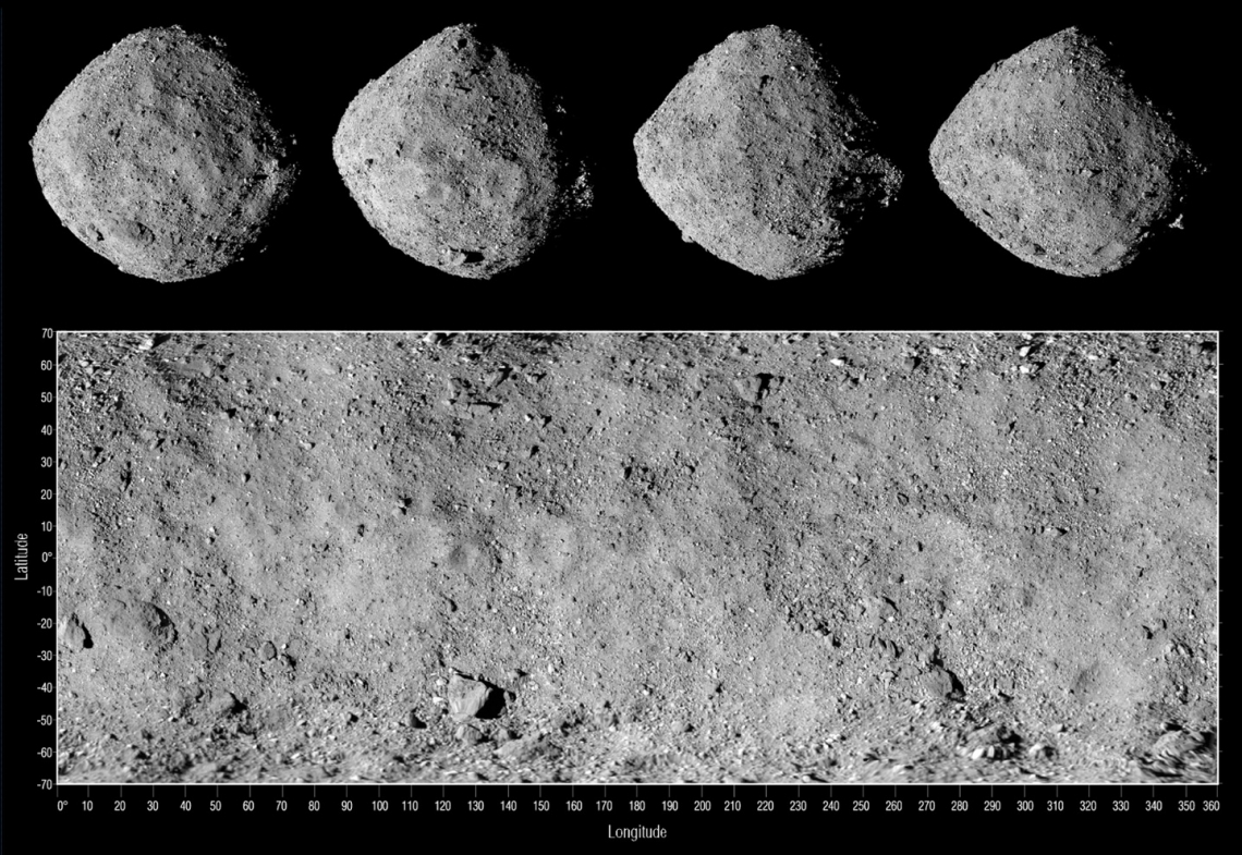 Global mosaic of asteroid Bennu