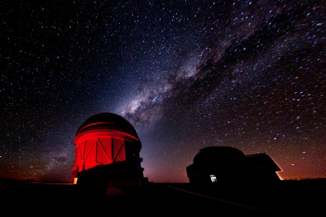 Telescopio Blanco de 4 metros en el Observatorio Interamericano Cerro Tololo en Chile