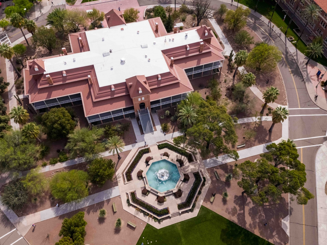 Old Main aerial photo