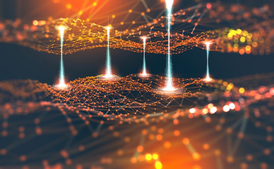 quantum decoding graphic illustration