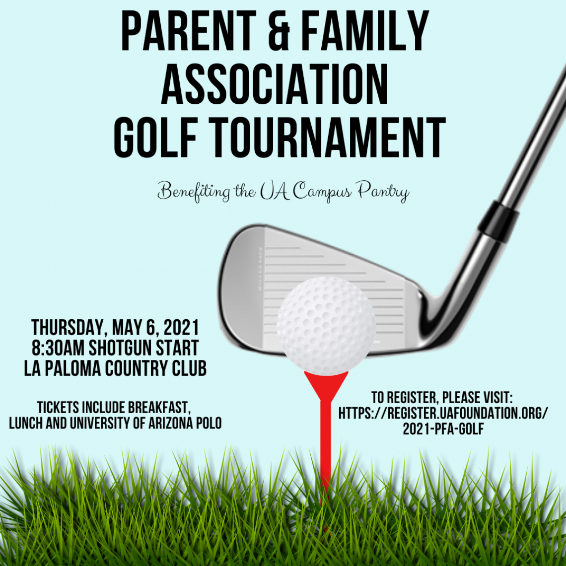 Campus Pantry Golf Tournament Flyer