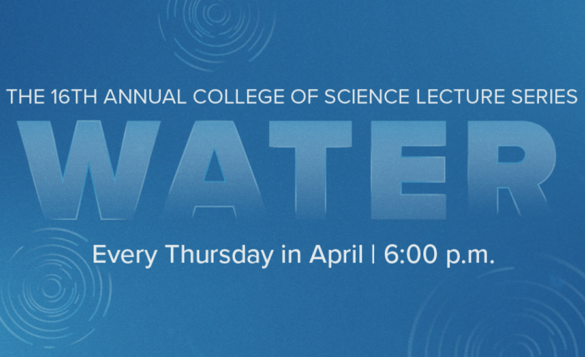 Blue College of Science Lecture Series banner