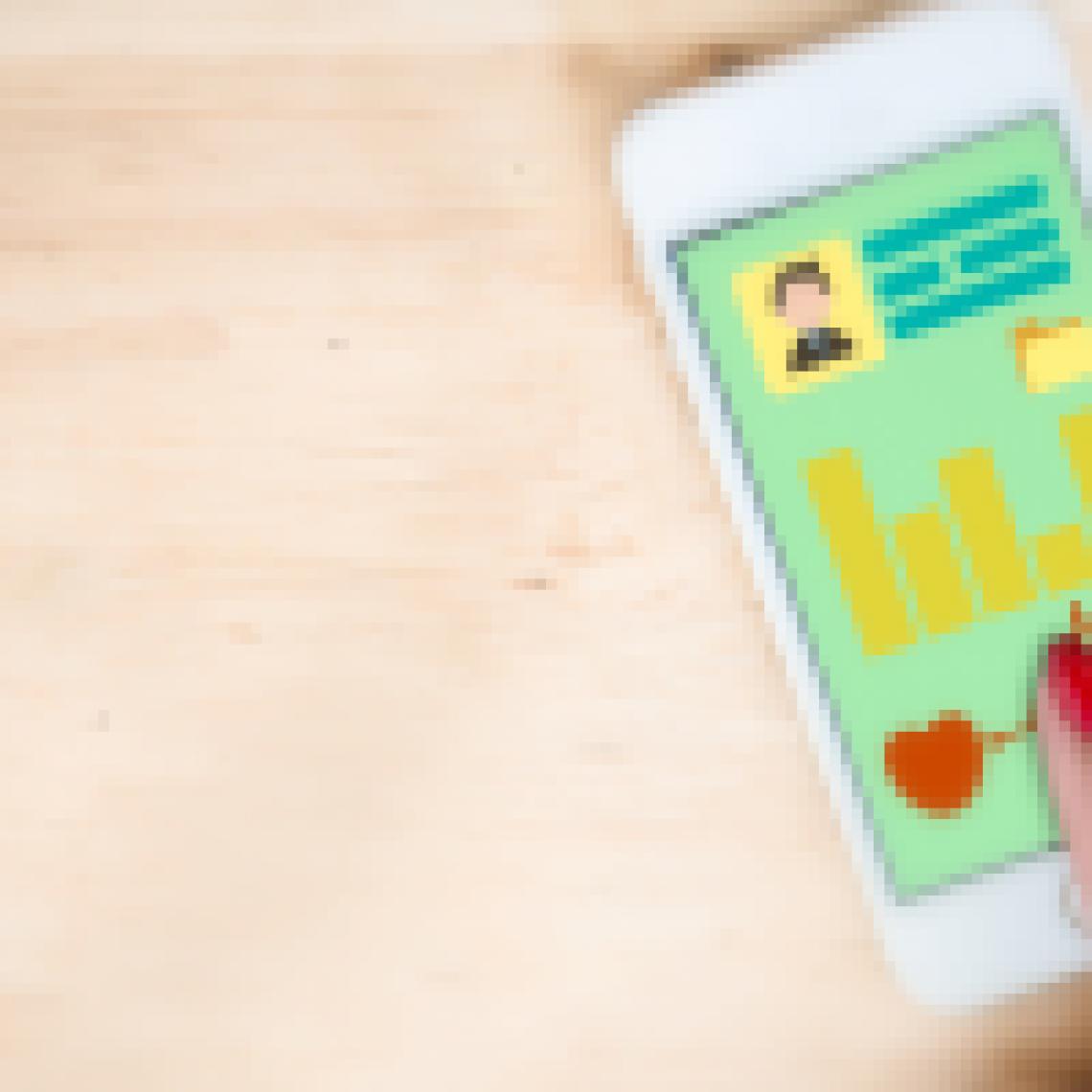 Photo of cellphone app for UArizona Health Check.