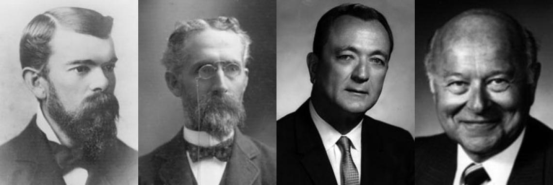 Portrait photographs of standout University of Arizona Presidents.