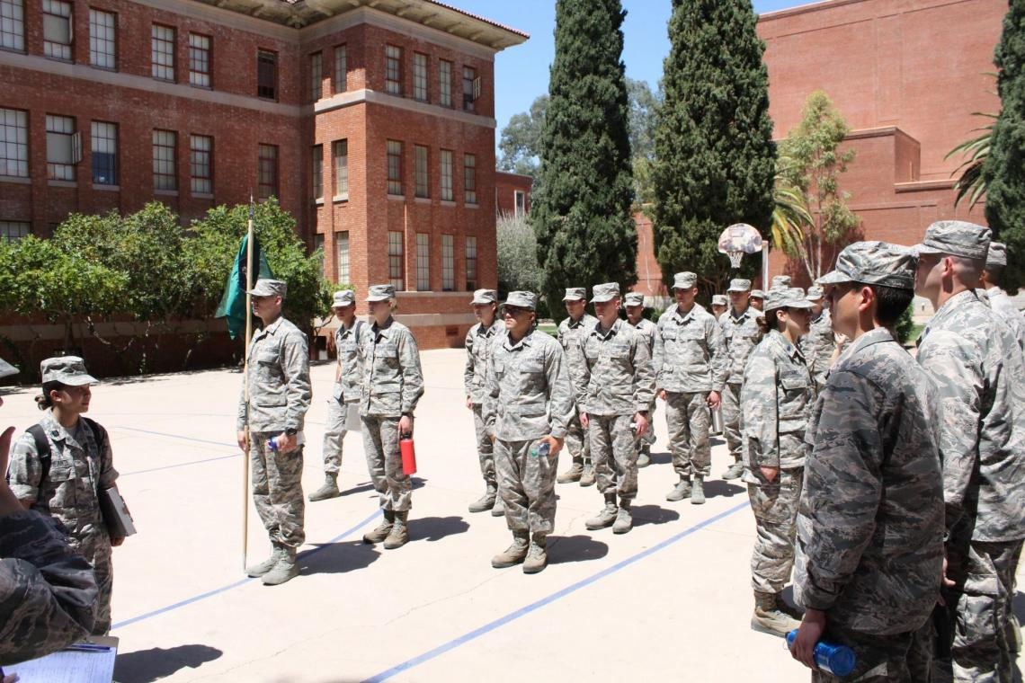 University of Arizona Air Force ROTC students receive leadership and military training in addition to earning their degrees.