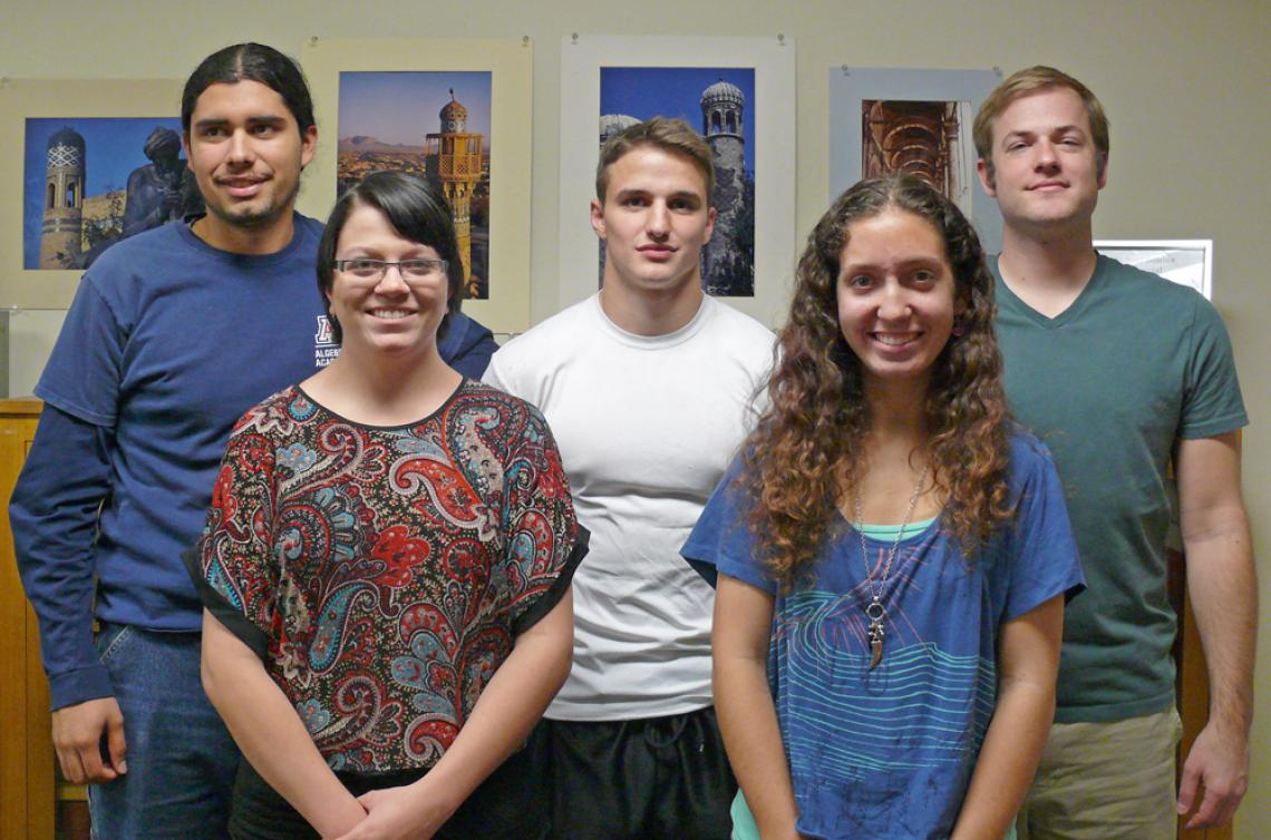 Arizona Arabic Flagship Program students  Michael Guyer, Jaime Zettlemoyer, Joshua Larson, Megan Kleinwachter and William Schlanger were among those who recently took part in a full day of standardized Arabic exams, which will decide whether they qualify