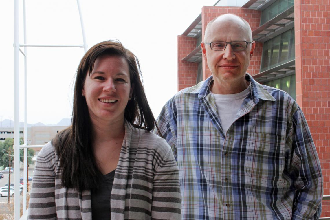 Danielle Buck, the study's author and a UA doctoral candidate, with mentor Henk Granzier, a UA professor in molecular and cellular biology and physiology.