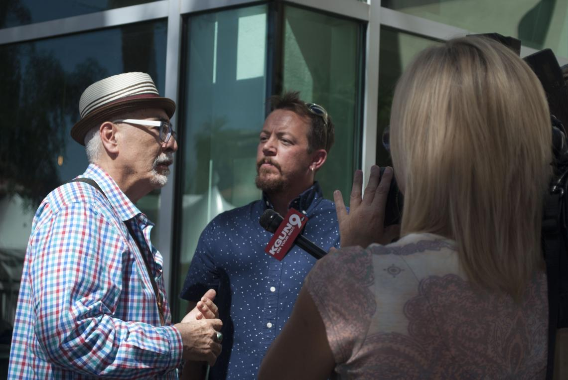 TC Tolbert , who earned a Master of Fine Arts in poetry from the UA, is a poet of stature. Tolbert has been named as Tucson poet laureate. U.S. poet laureate Juan Felipe Herrera  attended the announcement at the UA.