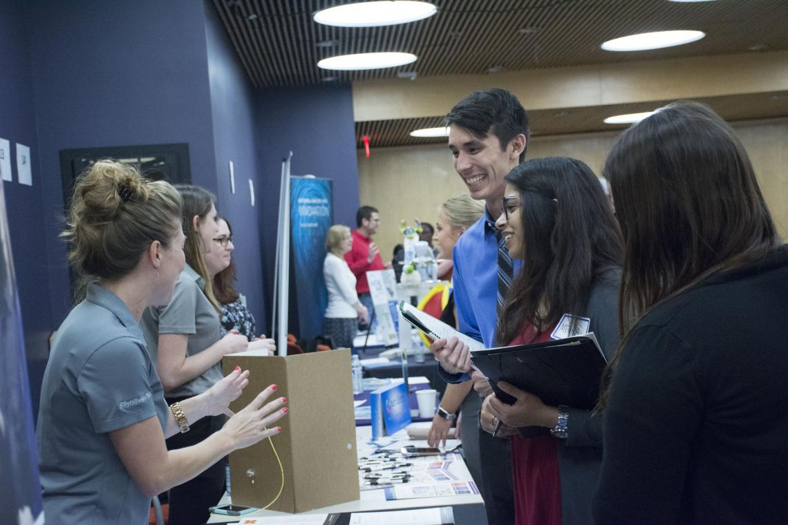 The Student Industry Networking Event, or SINE, facilitates interaction between STEM and business students and potential mentors or future employers.