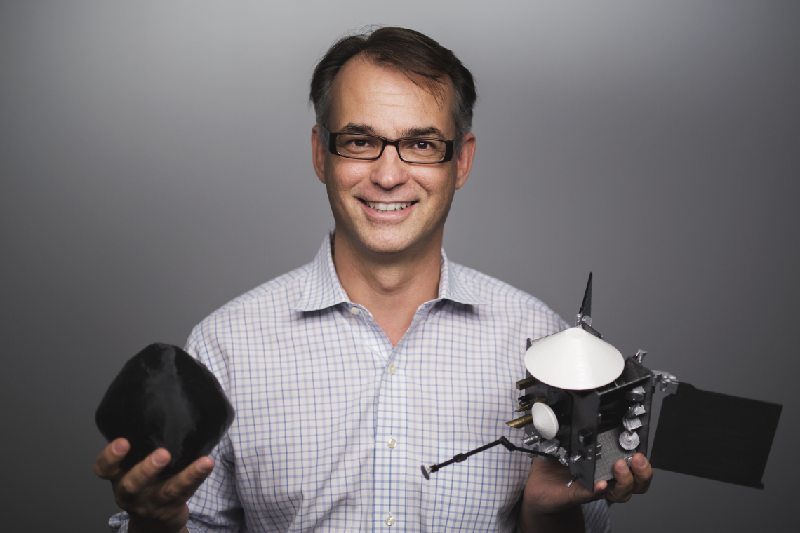 UA alumnus Dante Lauretta led the design, build and launch of a spacecraft to Bennu, a near-Earth asteroid, to collect a sample and return that sample to Earth.