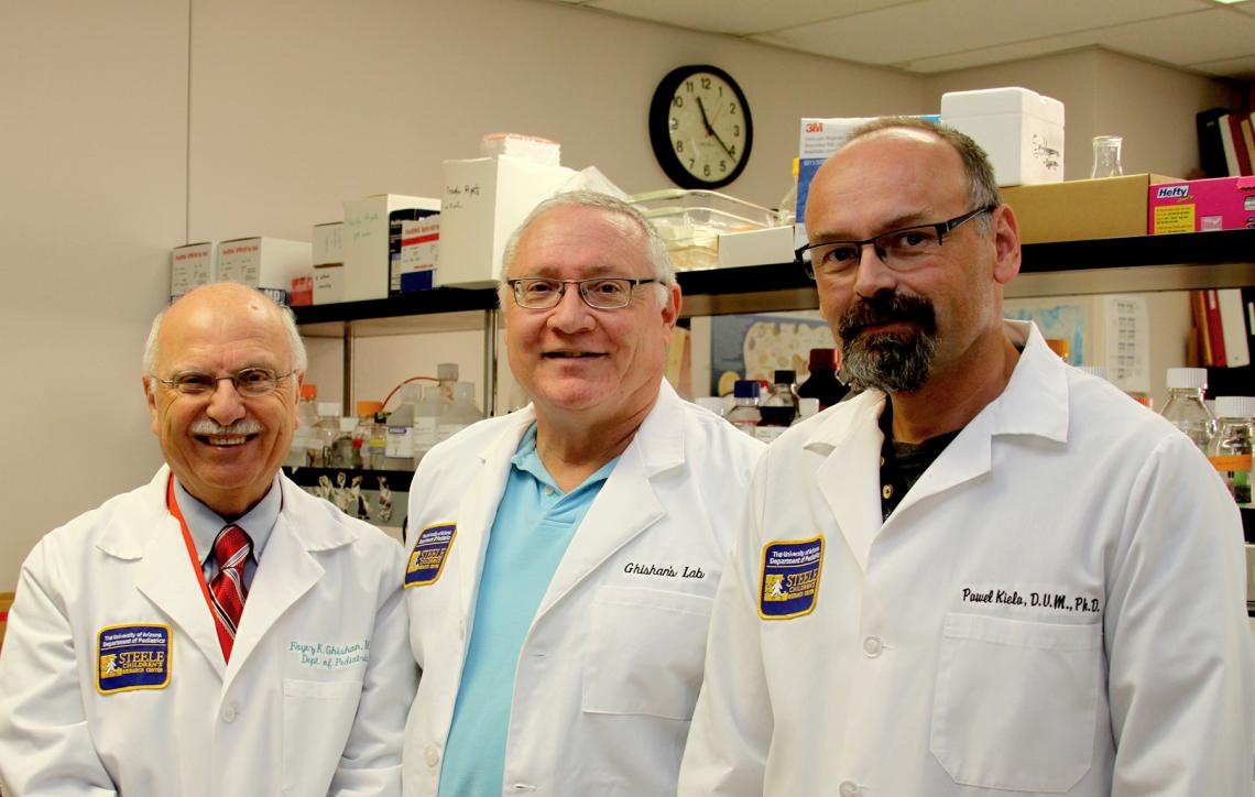 UA researchers  Dr. Fayez K. Ghishan, Eugene A. Mash Jr. and Pawel Kiela.