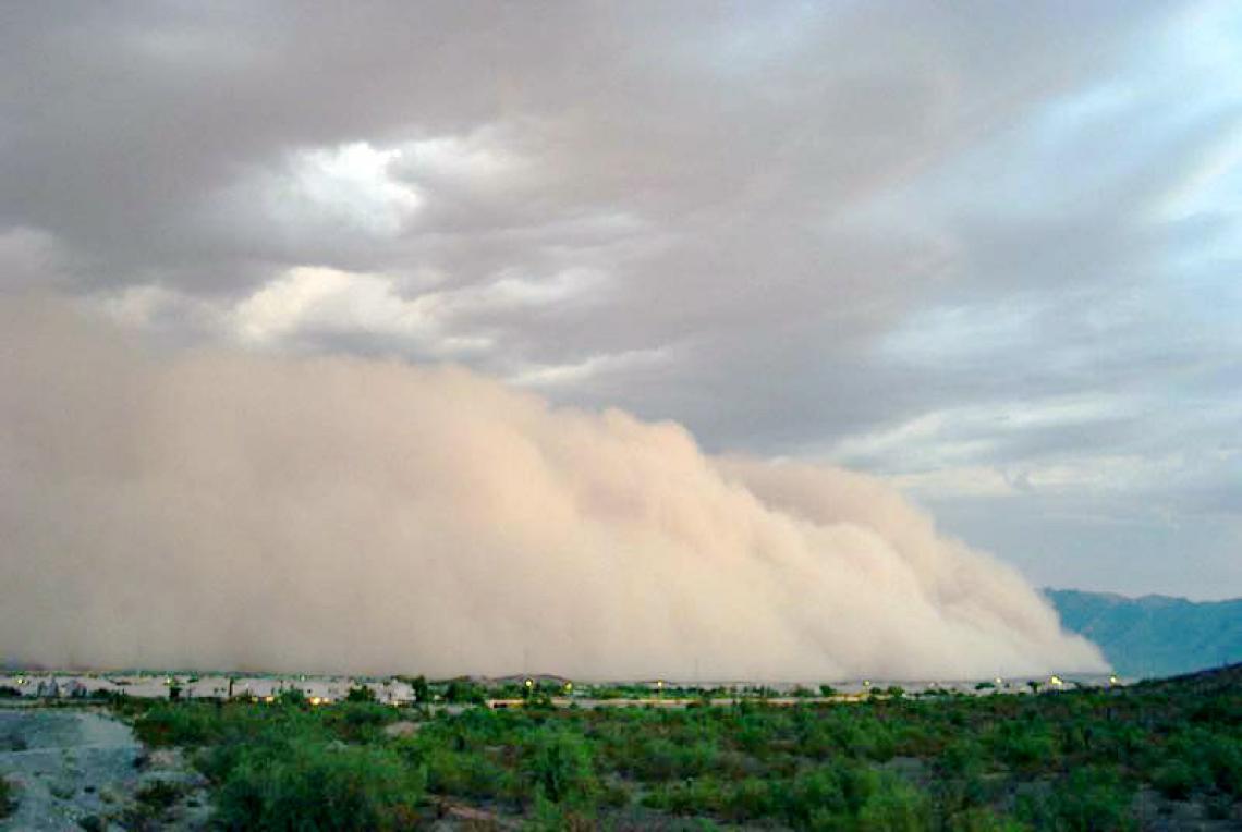 Dust storm season in Arizona begins in March.