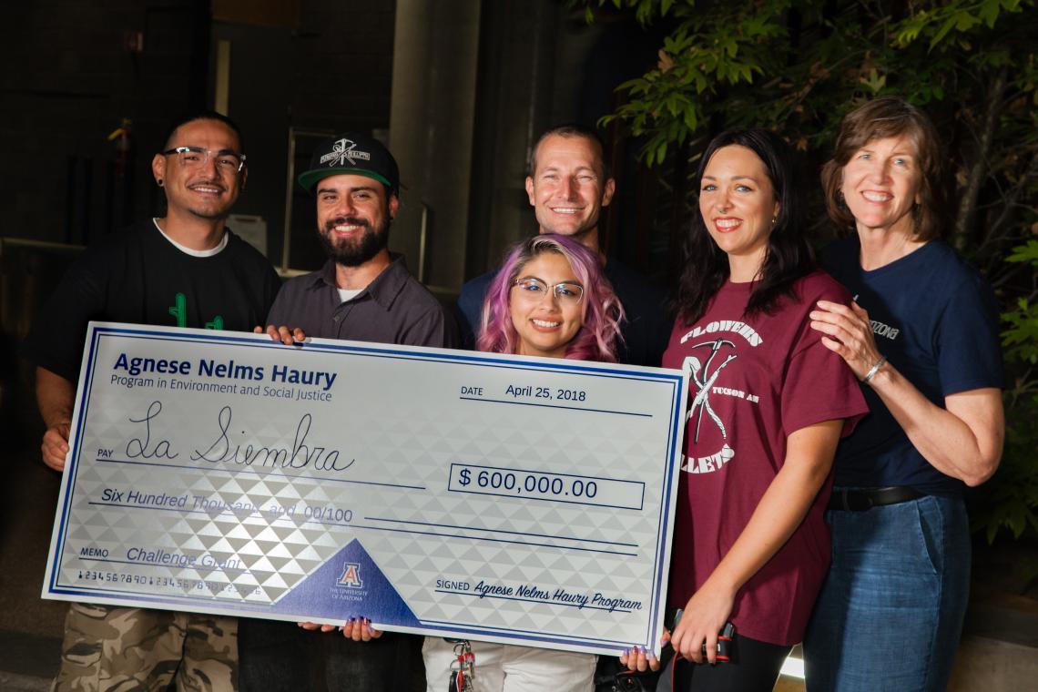 From left: Tito Romero ; Jacob Robles ; Moses Thompson ; Silvia Isabel Valdillez , Heather Gray  and Sallie Marston .
