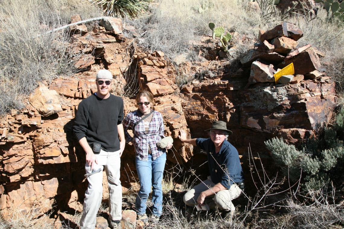 From left: researchers Saul Hedquist, Alyson Thibodeau and David Killick at Canyon Creek