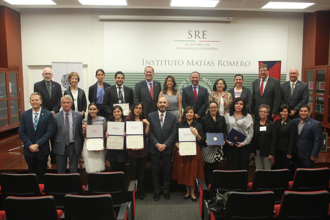 A ceremony at Mexico's Diplomatic Academy, Instituto Matías Romero, honored the first cohort of graduates.