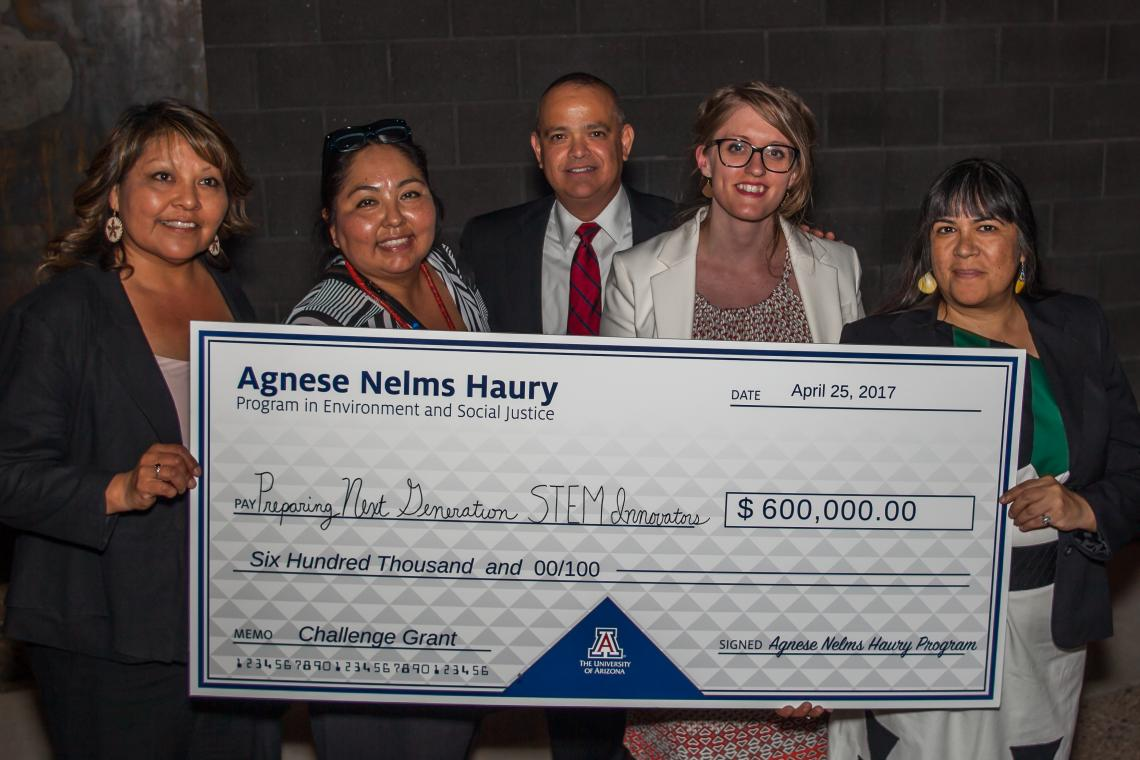 UA project leaders and community partners receive a $600,000 grant from the Agnese Nelms Haury Program in Environment and Social Justice to initiate project-based STEM learning in predominantly Hispanic and Native American schools.