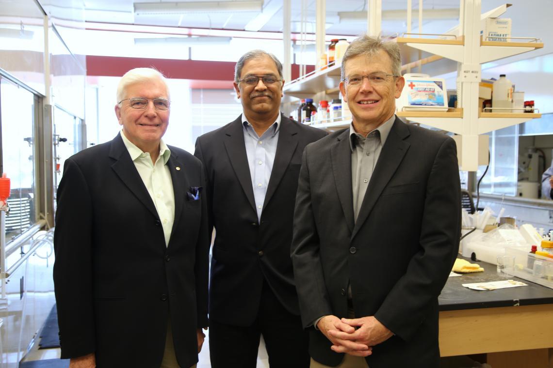 The Reglagene team, from left: Laurence Hurley, Vijay Gokhale and Richard Austin