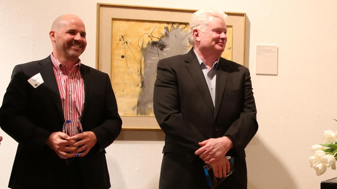 Kevin Boesen  and Fletcher McCusker at TLA's first awards event in 2014