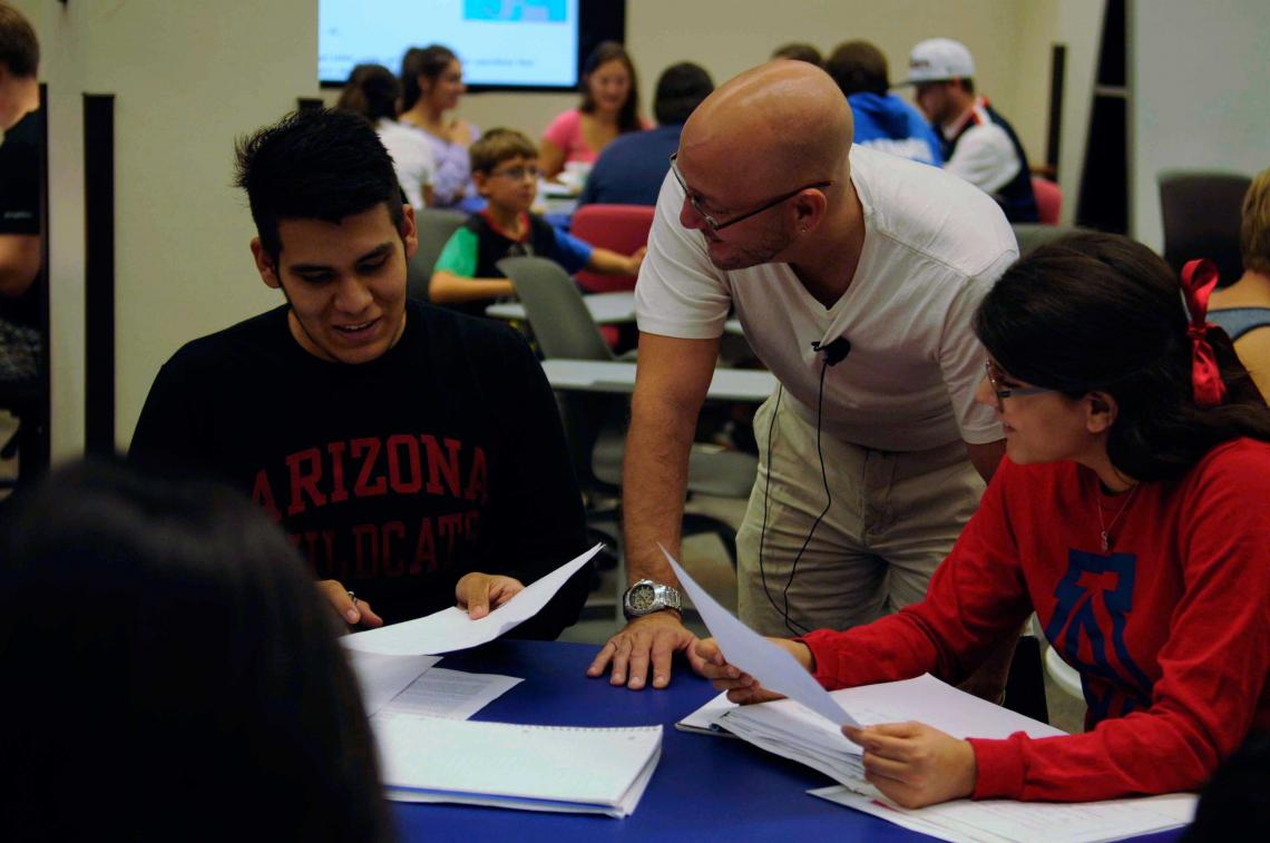Engineering professor Paul Blowers  taught last fall in the Science-Engineering Library Collaborative Learning Space.