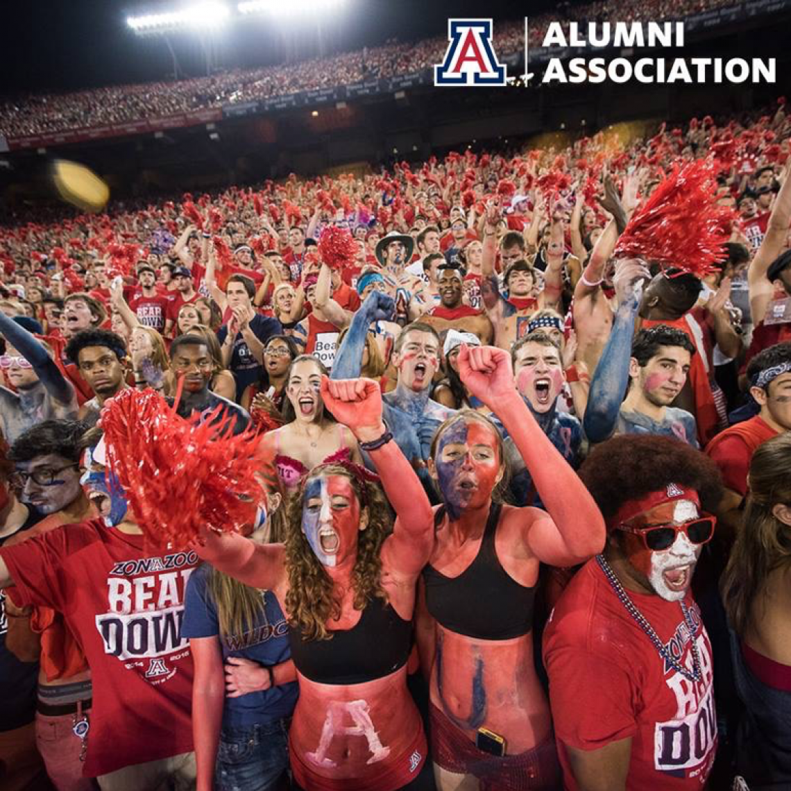 Leah Kaplan  let her school spirit show at UA football games.