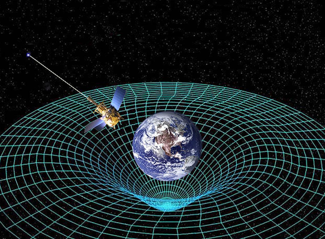According to the Theory of General Relativity, objects curve the space around them. UA physicist Andrei Lebed has proposed an experiment using a space probe carrying hydrogen atoms to test his finding that the equation E=mc2 is correct in flat space, but