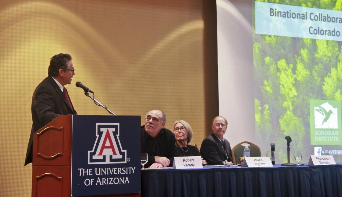 At the UA conference, the Sonoran Institute's Francisco Zamora  discusses collaborative research between the U.S. and Mexico on sustainable water resource management.