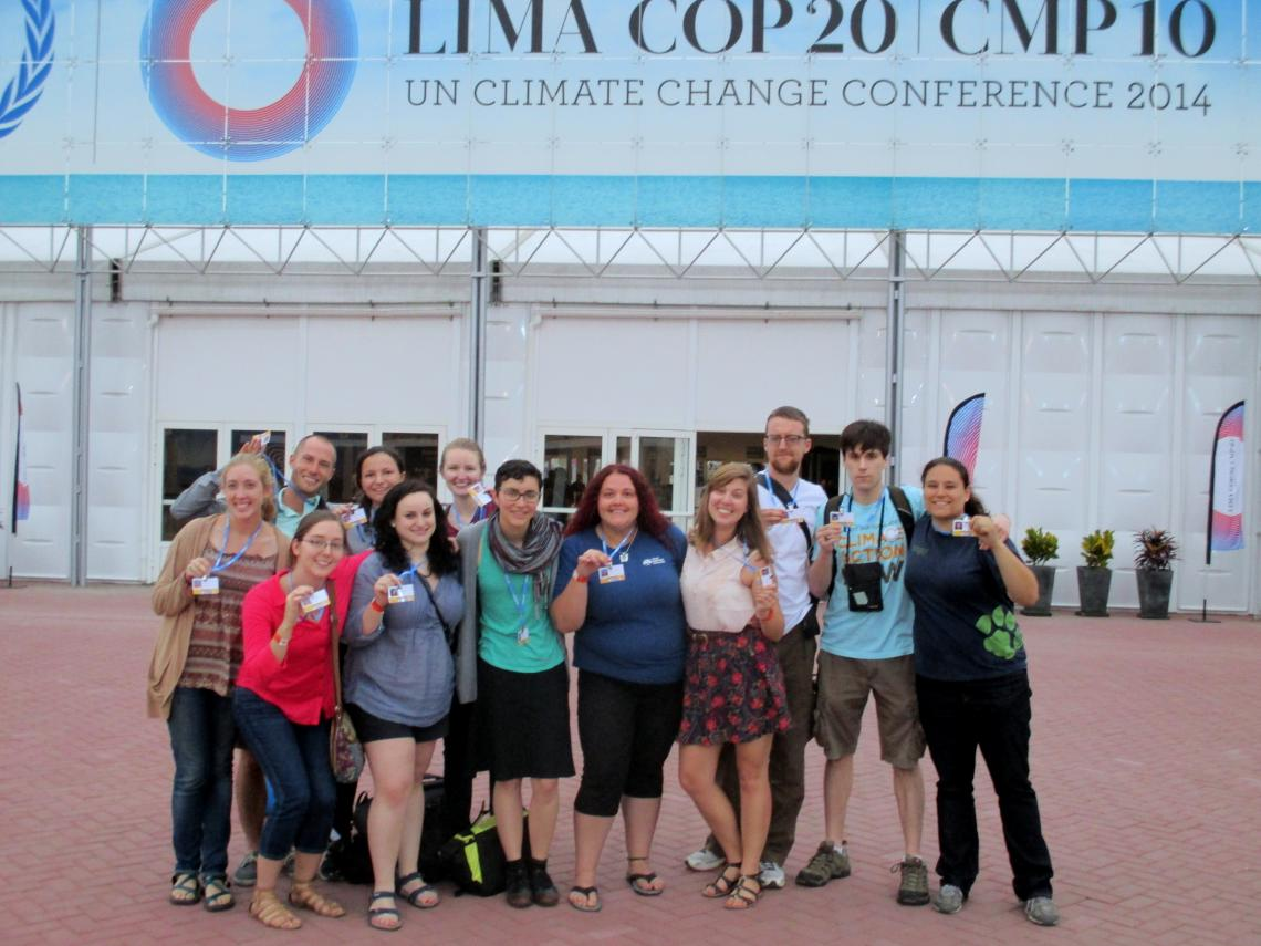 The Sierra student coalition COP20 delegation in Peru in 2014