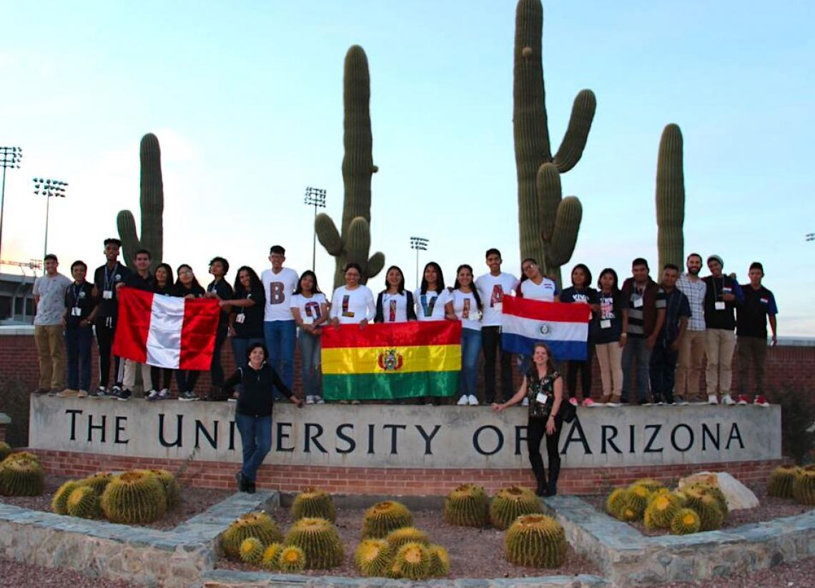 "Students from Paraguay, Bolivia and Peru were part of the the Study of the U.S. Institute  program at the UA. ""One of the most rewarding things for us is each one of these countries now has a network of SUSI alumni who are making changes,"" Marcela Vásquez"