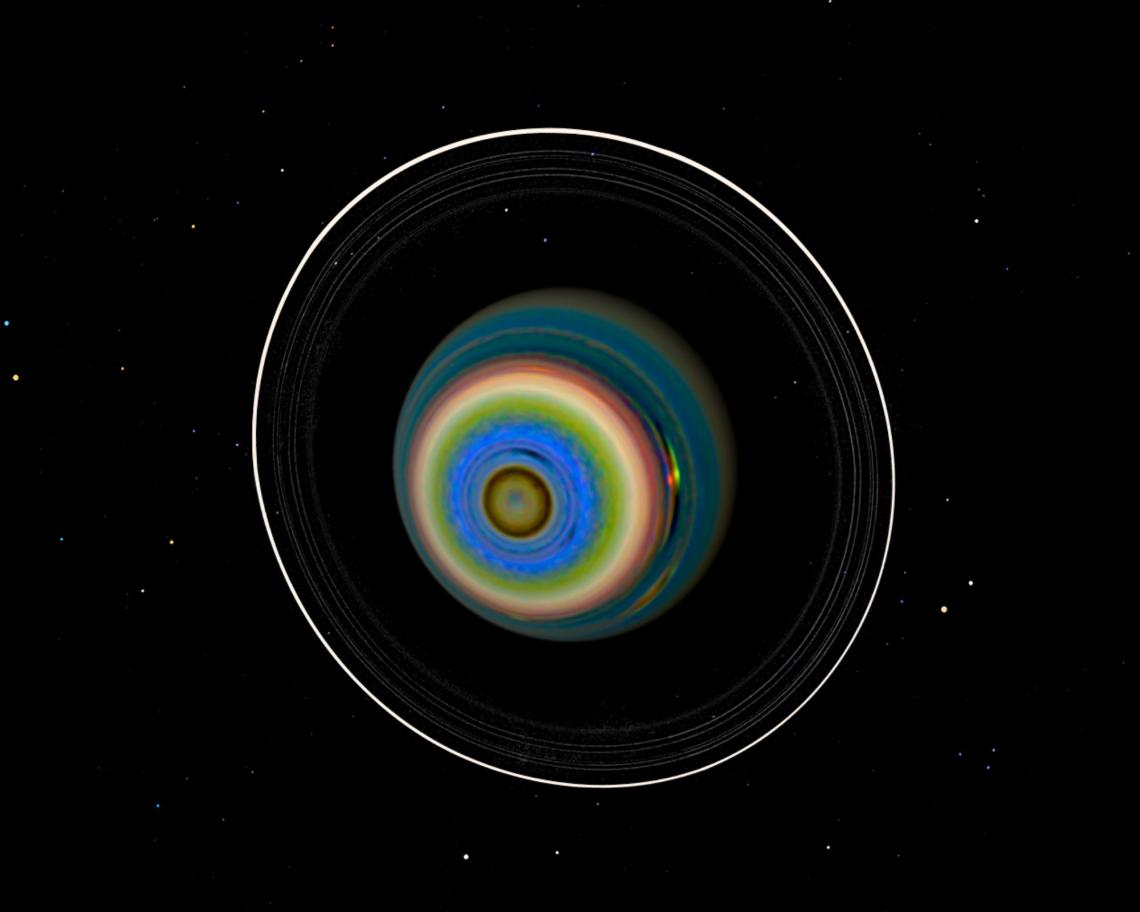 By enhancing contrast and teasing out previously hidden information in images taken by the Voyager-2 spacecraft, LPL scientist Erich Karkoschka discovered that Uranus' southern hemisphere is anything but bland.