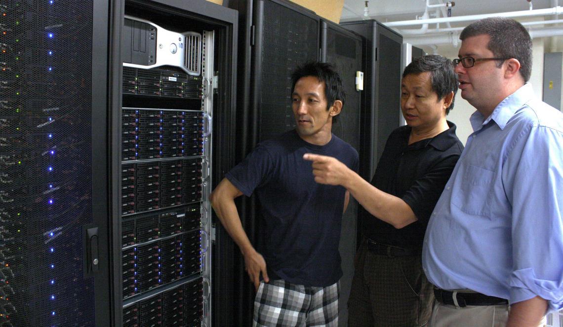 Xubin Zeng and his graduate students Koichi Sakaguchi and Michael Brunke