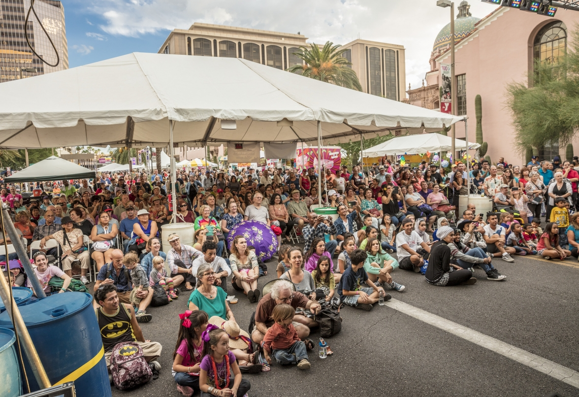Tucson Meet Yourself draws 120,000 attendees every year to downtown Tucson for food, music, dance, and folk arts.