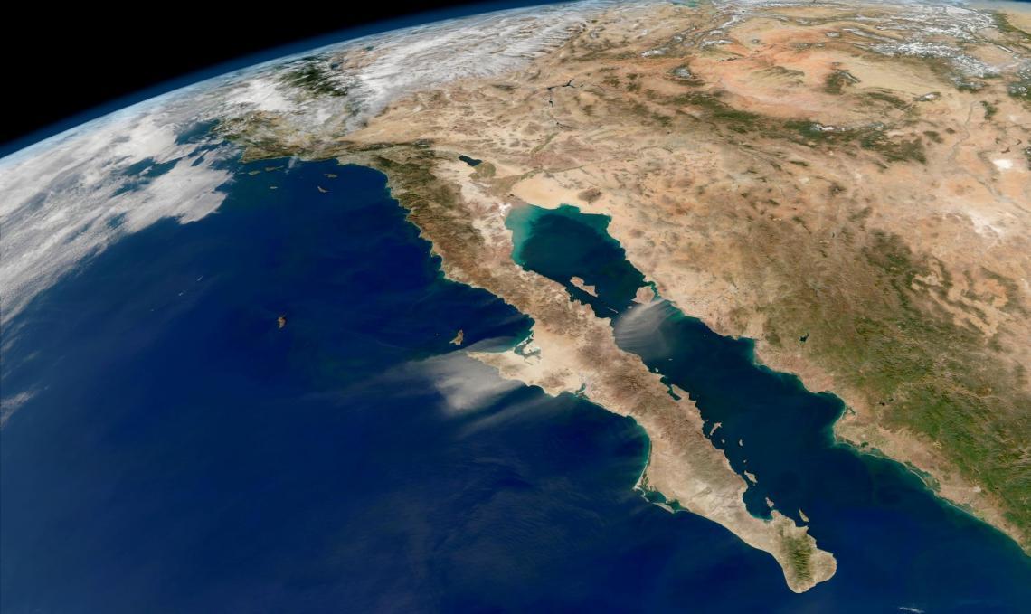 Baja California peninsula from space.