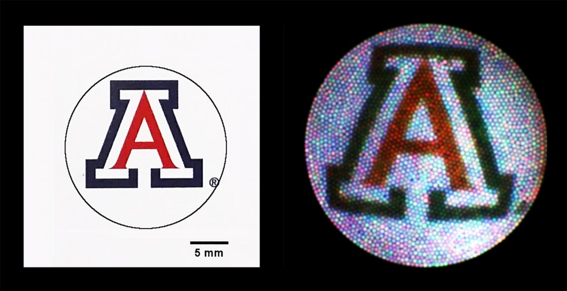 Graphic representation of falloposcope image resolution.